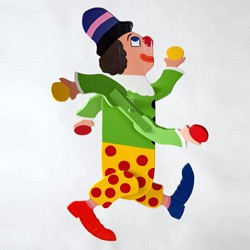 Classic Character Whirligig Clown