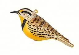 Cobane Studio Meadowlark Blown Glass Ornament