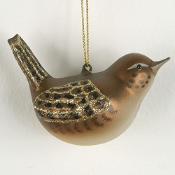 Cobane Studio House Wren Blown Glass Ornament