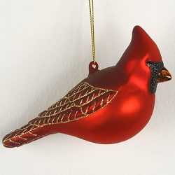 Cobane Studio Northern Cardinal Male Blown Glass Ornament