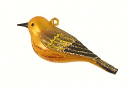 Cobane Studio Yellow Warbler Blown Glass Ornament