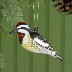 Cobane Studio Yellow Bellied Sapsucker Glass Ornament