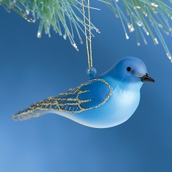 Cobane Studio Mountain Bluebird Blown Glass Ornament