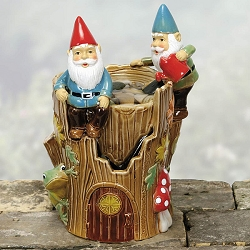 Gnome Table Water Fountain