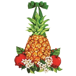 Holiday Pineapple Door Decor