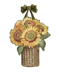 Farmhouse Sunflower Door Decor