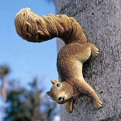 Simone Hanging Squirrel Sculpture