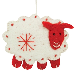 Snowflake Sheep White Ornament