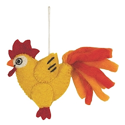 Wild Woolies Chicken Finger Puppet Ornament
