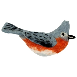 Tufted Titmouse Woolie Ornament