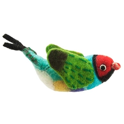Rainbow Finch Woolie Ornament