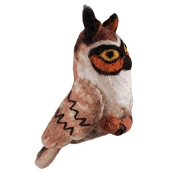 Long-Eared Owl Woolie Ornament