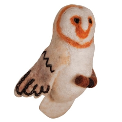 Barn Owl Woolie Ornament