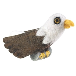 Bald Eagle Woolie Ornament