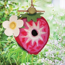 Wild Woolies Strawberry Felt Birdhouse