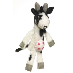 Wild Woolies Cow Finger Puppet Ornament