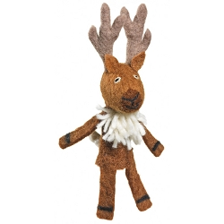 Wild Woolies Deer Finger Puppet Ornament