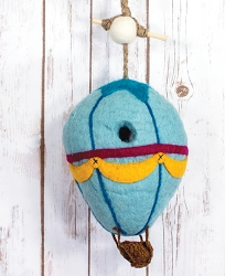 Wild Woolies Hot Air Balloon Felt Birdhouse