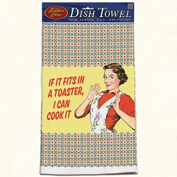 If It Fits In A Toaster Retro Dish Towel