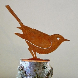 Elegant Garden Design Bird Silhouette Brown Thrasher