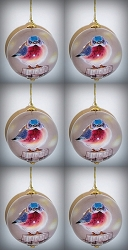 Mad Bluebird Ornament Set of 6