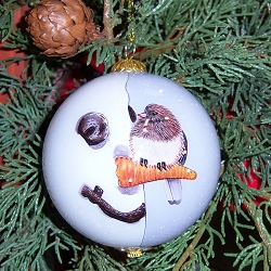 Nosey Junco Ornament