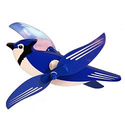 Blue Jay Whirlygig with Pole