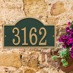 Fast & Easy Arch House Numbers Plaque
