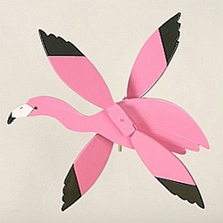 Classic Flying Pink Flamingo Whirligig
