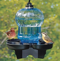 Bird Bath and Waterer Blue Globe