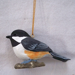 Life-Size Chickadee Ornament