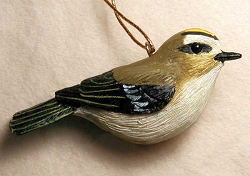 Golden Crowned Kinglet Ornament