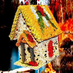 Gingerbread Cottage Edible Birdhouse
