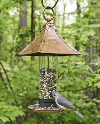 Palazzo Bird Feeder Medium Brushed Copper