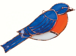 Bluebird Stained Glass Suncatcher