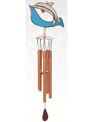Dolphin Stained Glass Windchime Small 20