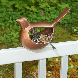 Enchanted Songbird Bird Feeder Venetian Bronze
