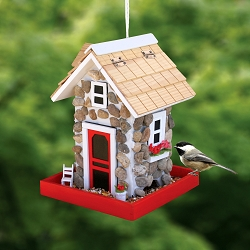 Hatchling Series Fieldstone Guest Cottage Bird Feeder