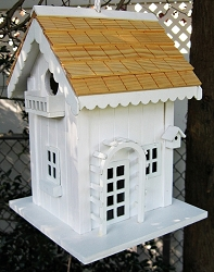 Hatchling Series Arbor Cottage Birdhouse White