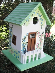 Hatchling Series Butterfly Cottage Birdhouse Green