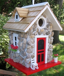 Hatchling Series Fieldstone Guest Cottage Birdhouse