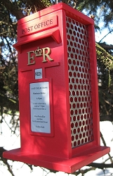 Royal Mail Box Peanut Bird Feeder