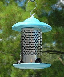 Bird Stop Ceramic Feeder Blue