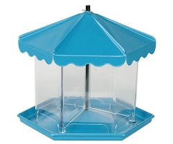 Mini Triple Bin Party Bird Feeder Blue Pearl