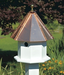 Oct-Avian Bird House Bright Copper
