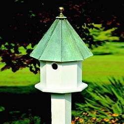 Oct-Avian Bird House Verdigris