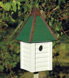 Gatehouse Bird House Whitewashed