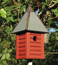 Gatehouse Bird House Redwood