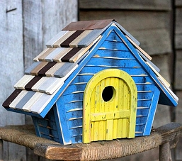 Prairie Home Birdhouse Blue