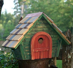 Prairie Home Birdhouse Green